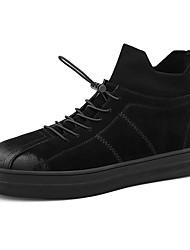 baratos -Homens sapatos Couro Inverno Outono Botas da Moda Botas Cowboy/Country Botas Botas Curtas / Ankle para Casual Ao ar livre Preto Cinzento
