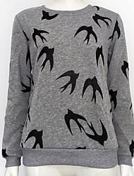 preiswerte -Damen Pullover Alltag Ausgehen Tierfell-Druck Rundhalsausschnitt Mikro-elastisch Polyester Langärmelige Winter Herbst