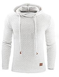 preiswerte -Herrn Solide Lässig/Alltäglich Kapuzenshirt Standard Langarm Mit Kapuze Winter Frühling/Herbst Baumwolle