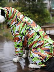 preiswerte -Hund Regenmantel Hundekleidung Reaktiver Druck Tarnfarbe Sonstiges Material Kostüm Für Haustiere Wasserdicht