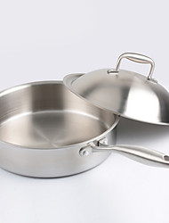 cheap -Stainless Steel Stainless Steel Flat Pan Multi-purpose Pot,28*7.5