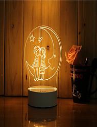 1 комплект 3d-настроения ночь светло-ручная с чувством яркости USB-подарочная лампа под лунным светом