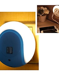 cheap -Smart LED Night Light with Light Sensor and Dual USB Charger Adapter for Mobile Phones iPhone 7 6s
