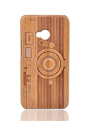 Недорогие -Кейс для Назначение HTC Защита от удара Кейс на заднюю панель Геометрический рисунок Твердый Бамбук для HTC One M7