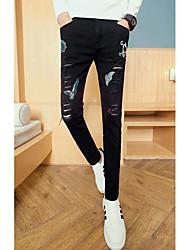 Pánské Šik ven Lehce elastické Džíny Kalhoty Mid Rise Polyester Tisk Zima Podzim