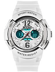 Недорогие -Муж. Спортивные часы Японский Кварцевый Повседневные часы Plastic Группа На каждый день Черный Белый Красный Роуз