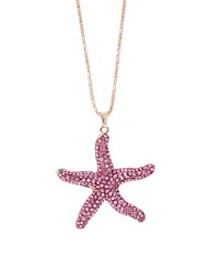 cheap -Women's Lovely Rhinestone Pendant Necklace Chain Necklace  -  European Starfish Pink Necklace For Daily Going out