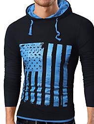 cheap -Men's Plus Size Sports Hoodie - Geometric Hooded