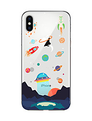 economico -Custodia Per Apple iPhone X iPhone 8 Plus iPhone 7 iPhone 6 Custodia iPhone 5 Traslucido Fantasia/disegno Custodia posteriore Cartoni