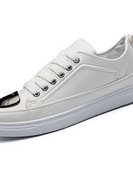 Masculino sapatos Couro Ecológico Primavera Outono Conforto Tênis para Casual Branco Preto Vermelho