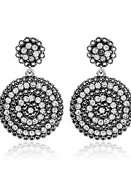 cheap -Women's Hoop Earrings Crystal Rhinestone Vintage Crystal Alloy Circle Oval Jewelry Gift