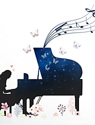 cheap -People Music Wall Stickers Plane Wall Stickers Decorative Wall Stickers, Vinyl Home Decoration Wall Decal Wall