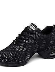 "cheap -Women's Dance Sneakers Knit Sneaker Outdoor Low Heel White Black Black-white 2"" - 2 3/4"" Customizable"