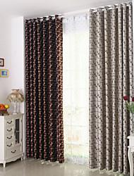 cheap -Rod Pocket Grommet Top Tab Top Double Pleat Pencil Pleat Curtain Modern, Jacquard Lattice Bedroom Polyester Blend Material Blackout