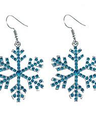 abordables -Mujer Bonito Copo de Nieve Cristal Pendientes colgantes - Clásico / Moda Blanco / Azul Aretes Para Navidad / Diario