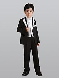 Недорогие -Золотой Серебряный Полиэстер Детский праздничный костюм - 6 Включает в себя Куртка Брюки Жилет Широкий пояс Бабочка Рубашка