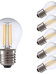 cheap -GMY® 6pcs 3.5W 350lm E27 LED Filament Bulbs P45 4 LED Beads COB LED Light Warm White 220-240V