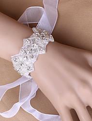 """abordables -Fleurs de mariage Petit bouquet de fleurs au poignet Mariage Soirée / Fête Tulle 1.18""""(Env.3cm) 0.39""""(Env.1cm)"""