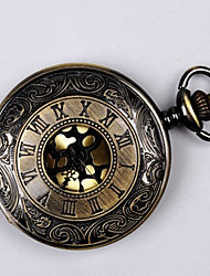 cheap -Kid's Couple's Casual Watch Pocket Watch Chinese Quartz Hollow Engraving Casual Watch Alloy Band Luxury Casual Cool Black Gold