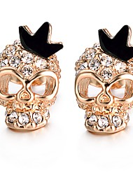 cheap -Women's Stud Earrings Cubic Zirconia Metallic Fashion Gold Plated Skull Jewelry Party Gift