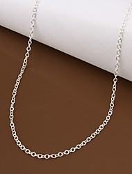 cheap -Women's Silver Plated Chain Necklace - Simple Geometric Necklace For Gift Evening Party