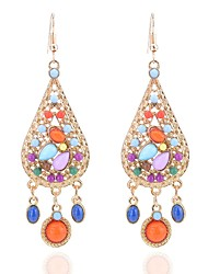 cheap -Women's Drop Earrings Multi-stone Bohemian Oversized Alloy Drop Jewelry Gift Evening Party Costume Jewelry