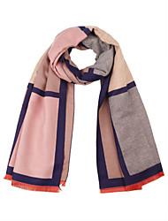cheap -Unisex Cashmere Cotton Rectangle Striped Winter All Seasons Blushing Pink