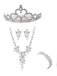 abordables -Femme Strass Imitation Diamant Papillon Ensemble de bijoux Bijoux de Corps / 1 Collier / 1 Bague - Mode / Européen Blanc Coiffure /