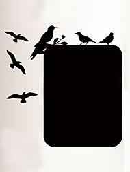 baratos -Animais Quadro-negro Adesivos de Parede Autocolantes de Aviões para Parede Autocolantes de Parede Decorativos, Vinil Decoração para casa