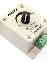 cheap -1pc LED Dimmer DC12V24V 8A Manually Rotation Switch Dimmer Controller for LED Strip