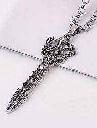 Недорогие -Муж. Ожерелья с подвесками / Ожерелья-цепочки  -  азиатский Серебряный Ожерелье 1 Назначение Подарок, Повседневные
