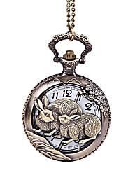 Недорогие -Для пары Кварцевый Карманные часы Повседневные часы Китайский С гравировкой Повседневные часы сплав Группа Роскошь На каждый день Cool