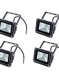 cheap -4pcs RGB 10W Led Flood Light 900LM IP65 Reflector Floodlight with Remote Control Waterproof for Garden Lamp Outdoor Lighting AC85-265V