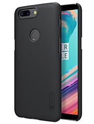 economico -Custodia Per OnePlus OnePlus 5T 5 Effetto ghiaccio Per retro Tinta unica Resistente PC per One Plus 5 OnePlus 5T