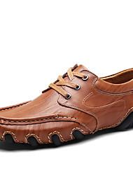 abordables -Homme Chaussures Similicuir Cuir Printemps Eté Confort Basket pour Décontracté Noir Brun Foncé Kaki