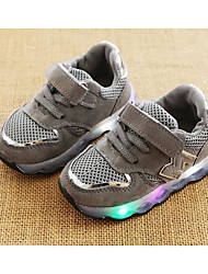 Boys' Shoes Leatherette Winter Fall Comfort Sneakers Walking Shoes Magic Tape for Casual Black Gray Pink