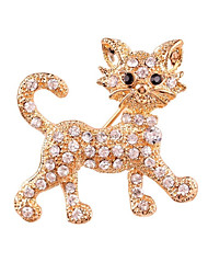 cheap -Women's Brooches Rhinestone Animals Alloy Cat Jewelry For Gift Daily
