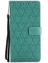 preiswerte -Hülle Für Samsung Galaxy Note 8 Kreditkartenfächer Geldbeutel mit Halterung Flipbare Hülle Muster Ganzkörper-Gehäuse Volltonfarbe Lace