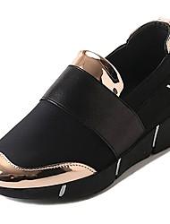 Недорогие -Жен. Обувь Полиуретан Зима Осень Удобная обувь Спортивная обувь Для прогулок На плоской подошве Круглый носок для Повседневные Золотой