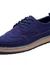 cheap -Men's Shoes Nubuck leather Spring Fall Comfort Oxfords for Casual Black Brown Blue