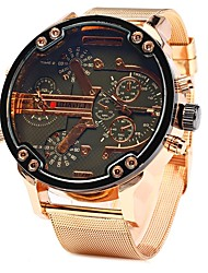 cheap -JUBAOLI Men's Quartz Wrist Watch Chinese Large Dial Stainless Steel Band Cool Rose Gold