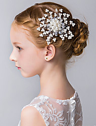 cheap -Girl's Hair Comb,Simple Classic Imitation Pearl All Seasons White