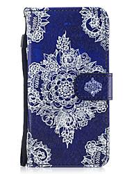 preiswerte -Hülle Für Apple iPhone X iPhone 8 Kreditkartenfächer Geldbeutel mit Halterung Flipbare Hülle Muster Ganzkörper-Gehäuse Blume Hart PU-Leder