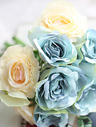 11 ブランチ ポリエステル バラ テーブルトップフラワー 人工花
