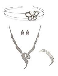 abordables -Femme Strass Imitation Diamant Renard / Papillon Ensemble de bijoux Bijoux de Corps / 1 Collier / 1 Bague - Mode / Européen Blanc