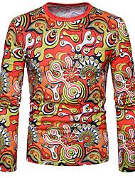 abordables -Tee-shirt Homme, Arc-en-ciel - Coton Chic de Rue Col Arrondi