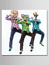 Недорогие -Hang-роспись маслом Ручная роспись - Животные Современный Простой Modern холст