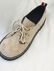 abordables -Femme Chaussures Polyuréthane Printemps / Automne Confort Oxfords Talon Plat Noir / Beige