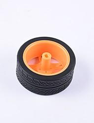 baratos -Caranguejo do reino do caranguejo diy peças educacionais do carro carro roda tt pneu do motor 1pcs preto e laranja # 2