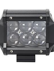 Недорогие -18w6000kled white spotlight30 / прожектор60 / смешанный свет 60/30 2-рядный крыша для автомобиля / лодки / фары 10-30vdc